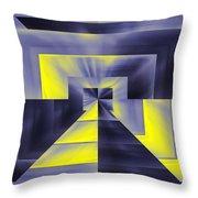 Pharaohs Dawning Throw Pillow by Tim Allen