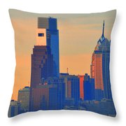 Philadelphia Sunrise Throw Pillow by Bill Cannon