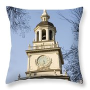Philadelphias Independence Hall Throw Pillow by Tim Laman