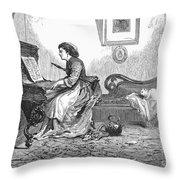 Pianist, 1876 Throw Pillow by Granger