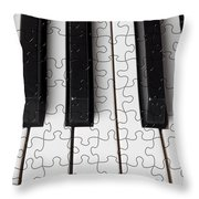 Piano Keys Jigsaw Throw Pillow by Garry Gay