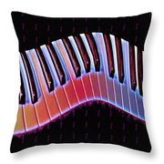 Piano Roll Throw Pillow by Bill Cannon