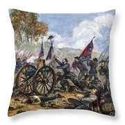 Picketts Charge, 1863 Throw Pillow by Granger
