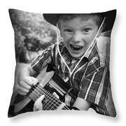 Pickin' Throw Pillow by Kelly Hazel