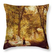 Picnic Throw Pillow by Charles James Lewis