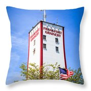 Picture Of Frankfort Grainery In Frankfort Illinois Throw Pillow by Paul Velgos