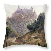 Pina Cintra Summer Home Of The King Of Portugal Throw Pillow by George Leonard Lewis