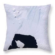 Pine Island Glacier Throw Pillow by Stocktrek Images