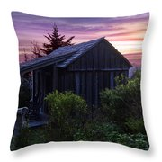 Pink Dawn Throw Pillow by Debra and Dave Vanderlaan