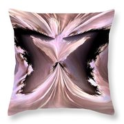 Pink Ice Throw Pillow by Maria Urso
