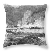 Pittsburgh: Fire, 1845 Throw Pillow by Granger