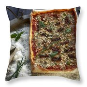 Pizza With Herbs Throw Pillow by Joana Kruse