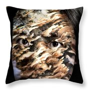 Plates Of Woe Throw Pillow by Christopher Gaston
