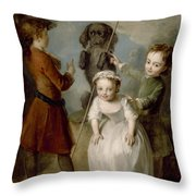 Playing Soldier Throw Pillow by Philippe Mercier