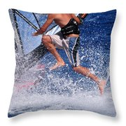 Playing With The Waves Throw Pillow by Manolis Tsantakis