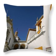 Plaza De Toros De La Real Maestranza - Seville Throw Pillow by Juergen Weiss