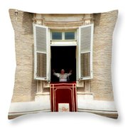 Pope Benedict Xvi A Throw Pillow by Andrew Fare