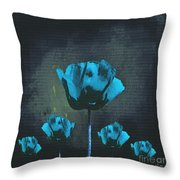 Poppies Fun 01 - Bb Throw Pillow by Variance Collections