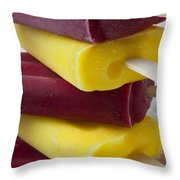 Popsicle Ice Cream Throw Pillow by Garry Gay