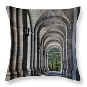 Portico From The Valley Of The Fallen Throw Pillow by Mary Machare