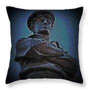 Portrait 33 American Civil War Throw Pillow by David Dehner