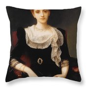 Portrait Of A Lady Throw Pillow by Charles Edward Halle