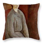 Portrait of Annie Bjarne Throw Pillow by Amedeo Modigliani