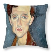 Portrait Of Franz Hellens Throw Pillow by Modigliani