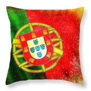 Portugal Flag  Throw Pillow by Setsiri Silapasuwanchai
