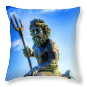 Poseidon Throw Pillow by Dan Stone