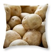 Potatoes Throw Pillow by Elena Elisseeva
