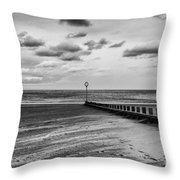 Potobello Beach And Drifting Sands Throw Pillow by John Farnan