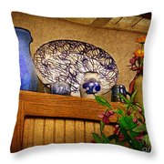 Pottery Still Life Throw Pillow by Judi Bagwell