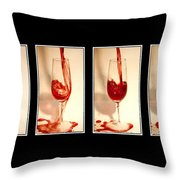 Pouring Red Wine Throw Pillow by Svetlana Sewell