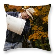 Pouring Wine Throw Pillow by Jean Noren