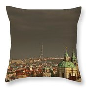 Prague - A Symphony In Stone Throw Pillow by Christine Till