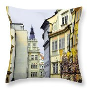 Prague - Walking In The Footsteps Of Kings Throw Pillow by Christine Till