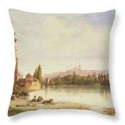 Prague Czechoslovakia Throw Pillow by William Wyld