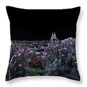 Prague Skyline Throw Pillow by Pravine Chester