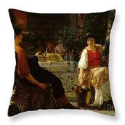 Preparations For The Festivities Throw Pillow by Sir Lawrence Alma-Tadema