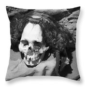 Preserved Remains In Nazca Throw Pillow by Darcy Michaelchuk