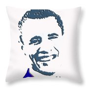 president of the United States Throw Pillow by Robert Margetts