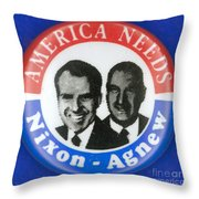 Presidential Campaign:1972 Throw Pillow by Granger