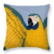 Pretty Bird Throw Pillow by Audrey Peaty