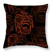 Primal Screams Throw Pillow by David Dehner