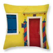 Primary Colors Throw Pillow by Irene Suchocki