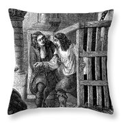 Prison: Cage, 17th Century Throw Pillow by Granger