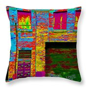 Psychadelic Architecture Throw Pillow by Andrew Fare