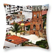 Puerto Vallarta Throw Pillow by Elena Elisseeva