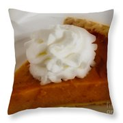 Pumpkin Pie Throw Pillow by Cheryl Young